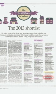 irish times best shop awards
